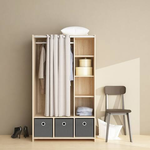 . Buy MDF  Modern   Contemporary Armoires   Wardrobe Closets Online at