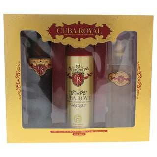 Cuba Royal Men's 3-piece Gift Set