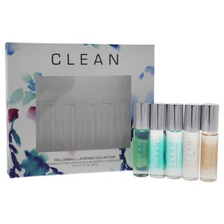 Clean Rollerball Layering Collection Women's 5-piece Mini Gift Set