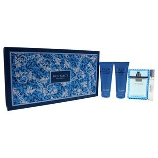 Versace Man Eau Fraiche Men's 4-piece Gift Set
