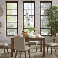 """Ink+Ivy Zen Reclaimed Ash-finish Wood Expandable Dining Table - reclaimed brown - 55"""" w to 78"""" w x 40""""d x 30""""h"""