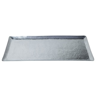 "30x13x1"" Rectangular Hammered Aluminum Tray"