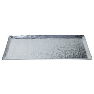 "30x13x1"" Rectangular Hammered Aluminum Tray"