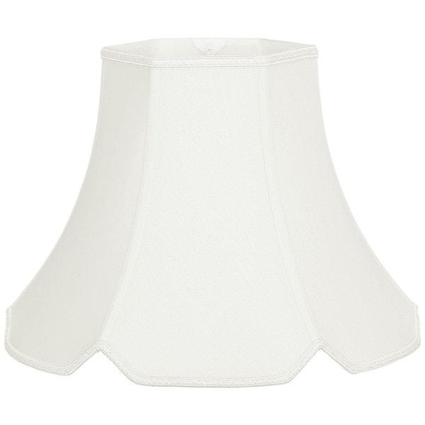 Royal Designs V-Notched Hexagon Designer Lamp Shade, White, 8 x 16 x 12.25