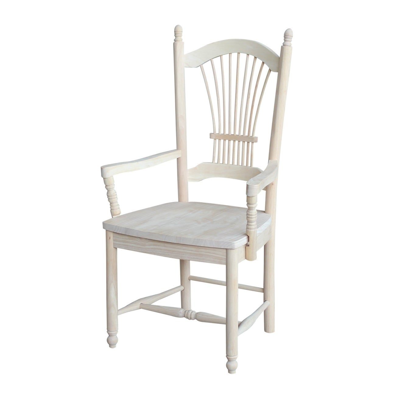 Shop International Concepts Sheafback Chair With Arms Free