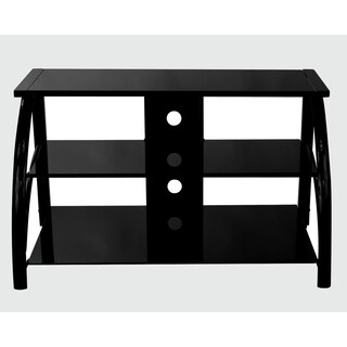 Offex Stilletto TV Stand Glass - Black