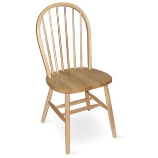 International Concepts Windsor Spindleback Chair with Plain Legs
