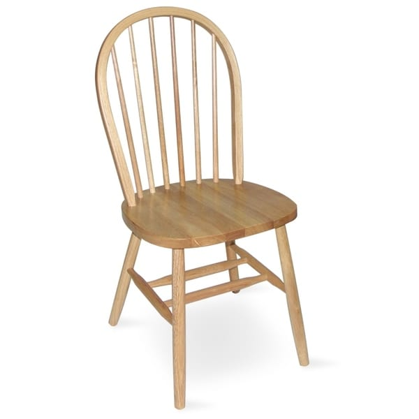 Merveilleux International Concepts Windsor Spindleback Chair With Plain Legs