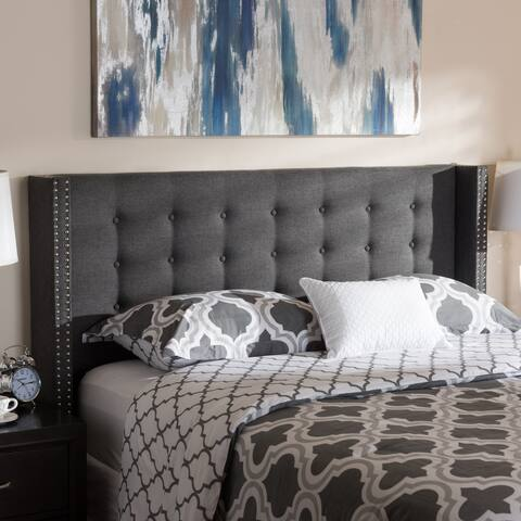 Contemporary Fabric Winged Headboard by Baxton Studio