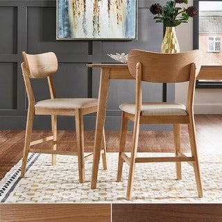 Penelope Danish Modern Tapered-leg Counter Height Chair (Set of 2) by iNSPIRE Q Modern