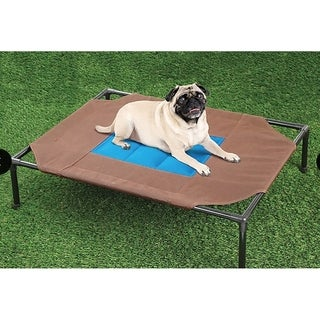 Relaxing Pet Dog Cot Cool Cooling Gel Elevated Bed