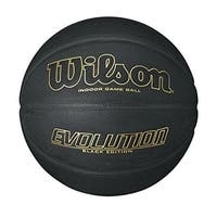 Wilson Evolution Black Edition Basketball, Official Size (29.5)