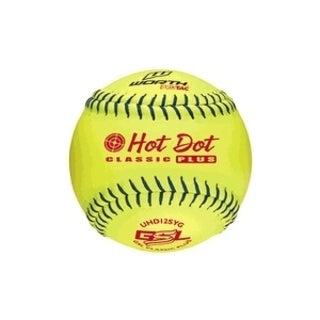 Worth SP Softballs - Hot Dot - 12 Yellow