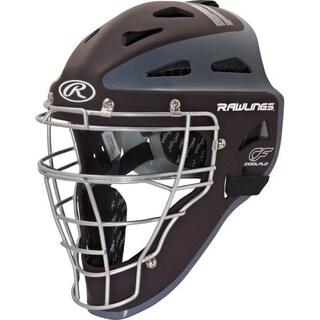 Rawlings Velo Adult Catchers Helmet - Maroon/grey- Adult 7 1/8 - 7 3/4