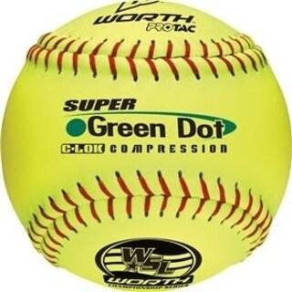 Worth WSL Super Green Dot 11 Slowpitch Softballs (DZ)