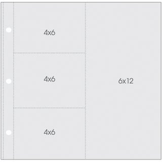 """Sn@p! Pocket Pages For 12""""X12"""" Binders 10/Pkg"""