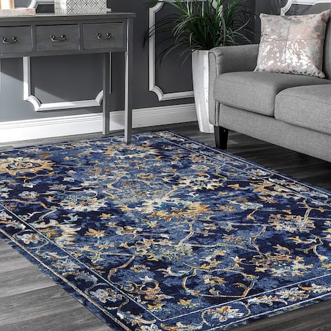 LR Home Gala Traditional Jacobean Rug