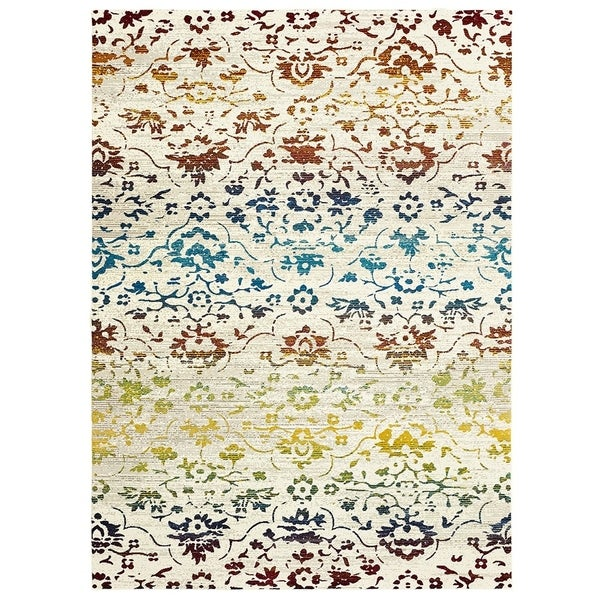 "LR Home Gala Red Multi Indoor Runner Rug(2'3"" x 8'9"") - 2'3 x 9'"