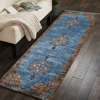 "LR Home Gala Turquoise Multi Indoor Runner Rug(2'3"" x 8'9"") - 2'3 x 9'"