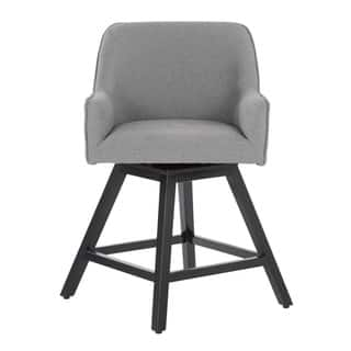 Offex Home Spire Espresso Wood/Fabric Swivel Counter Stool|https://ak1.ostkcdn.com/images/products/18213502/P24355964.jpg?impolicy=medium