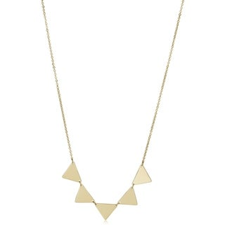 Fremada 14k Yellow Gold Five Triangle Necklace (18 inch)