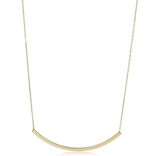 Fremada 14k Yellow Gold Curved Necklace (18 inch)