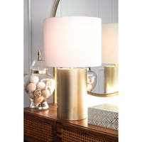 Watch Hill 24-inch Madeline Iron Cotton Shade Table Lamp