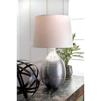 Watch Hill 26-inch Julia Aluminum Cotton Shade Table Lamp