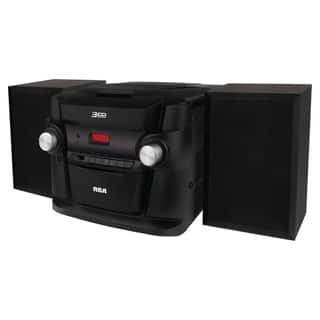 Refurbished RCA 3 CD Mini Shelf Audio System-RS22363 - Black|https://ak1.ostkcdn.com/images/products/18213638/P24356069.jpg?impolicy=medium