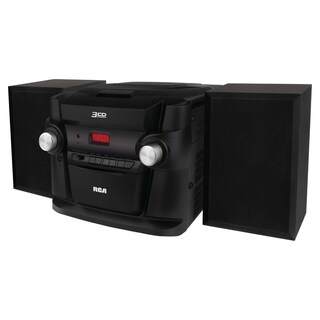 Refurbished RCA 3 CD Mini Shelf Audio System-RS22363 - Black