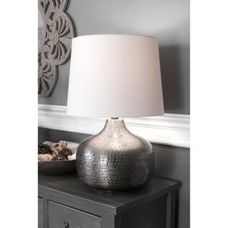 Buy aluminum table lamps online at overstock our best lighting watch hill 21 inch faith hammered aluminum cotton shade table lamp aloadofball Gallery