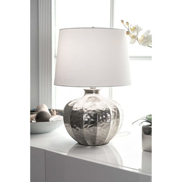 Watch Hill 19-inch Alexandra Iron Cotton Shade Table Lamp