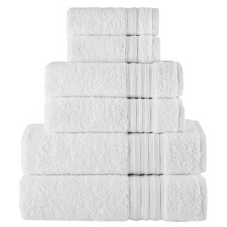 Laural Home 6 Piece Turkish Towel Set- White
