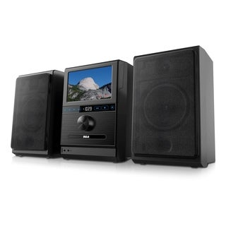 Refurbished RCA Home Stereo System with Detachable 7-inch Tablet Screen - Black
