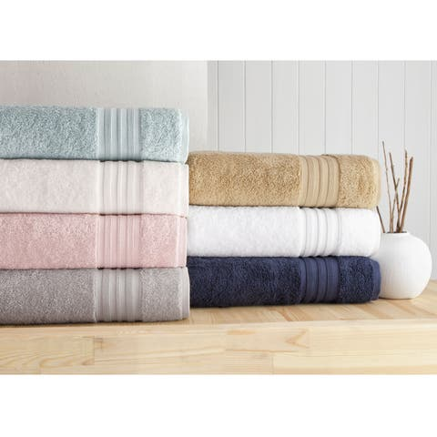 Laural Home 100% Turkish Cotton 6-Piece Towel Set