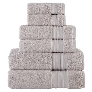 Laural Home 6 Piece Turkish Towel Set- Grey