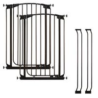 Dreambaby Chelsea Tall Auto Close Stay Open Gate Combo Pack 2 Gate 2 Ext - Black