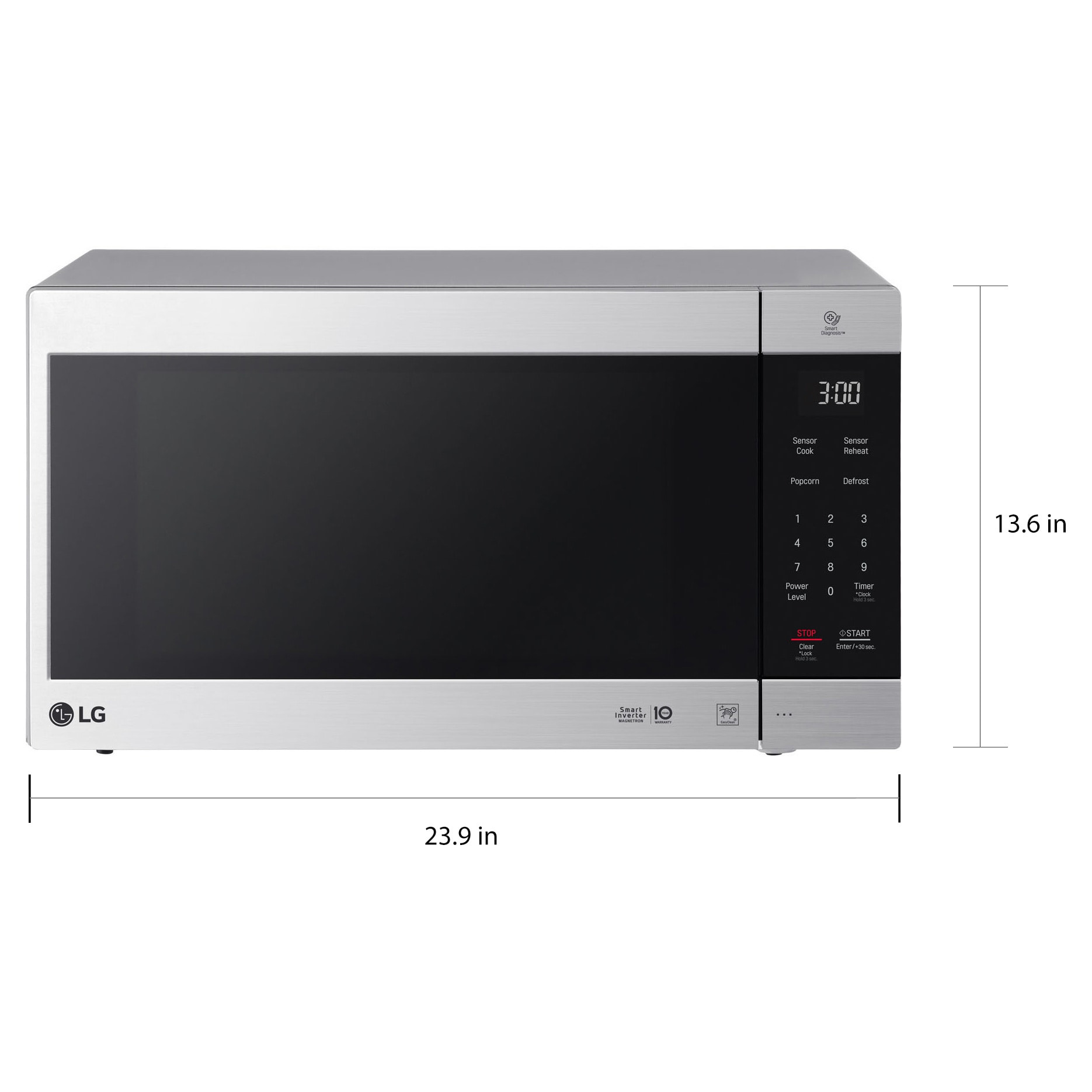 Lg Lmc2075st Neochef 2 0 Cu Ft Countertop Microwave In Stainless Steel