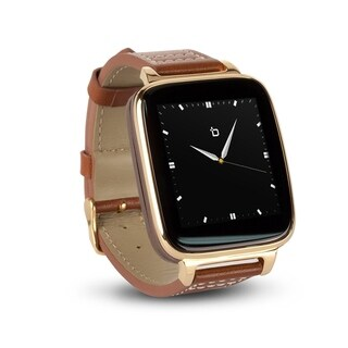 Refurbished Bit Smart Watch Brown Calfskin Leather Strap/Gold