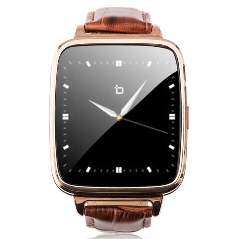 Refurbished Bit Smart Watch Brown Leather Strap/Gold