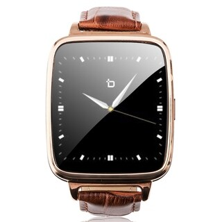 Refurbished Bit Smart Watch Brown Leather Strap/Gold