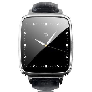Refurbished Bit Smart Watch Black Leather Strap/Silver