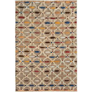 Moroccan Arya Dillon Ivory/Ivory Wool Rug (6'2 x 8'9)