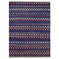 Arshs Moroccan Arya Kip Purple/Blue Wool Rug (9'3 x 12'3) - 9 ft. 3 in. x 12 ft. 3 in.