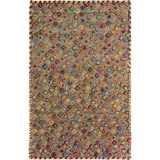 Arshs Moroccan Arya Quinn Tan/Blue Wool Rug (6'8 x 10'0)