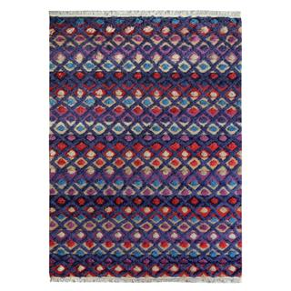 Arshs Moroccan Arya Stanford Purple/Blue Wool Rug (5'4 x 8'3) - 5 ft. 4 in. x 8 ft. 3 in.