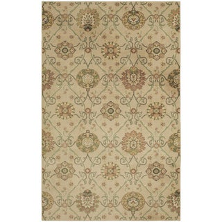 Mohawk Prismatic Bexley Traditional Gold Lattice Area Rug - 5' x 8'