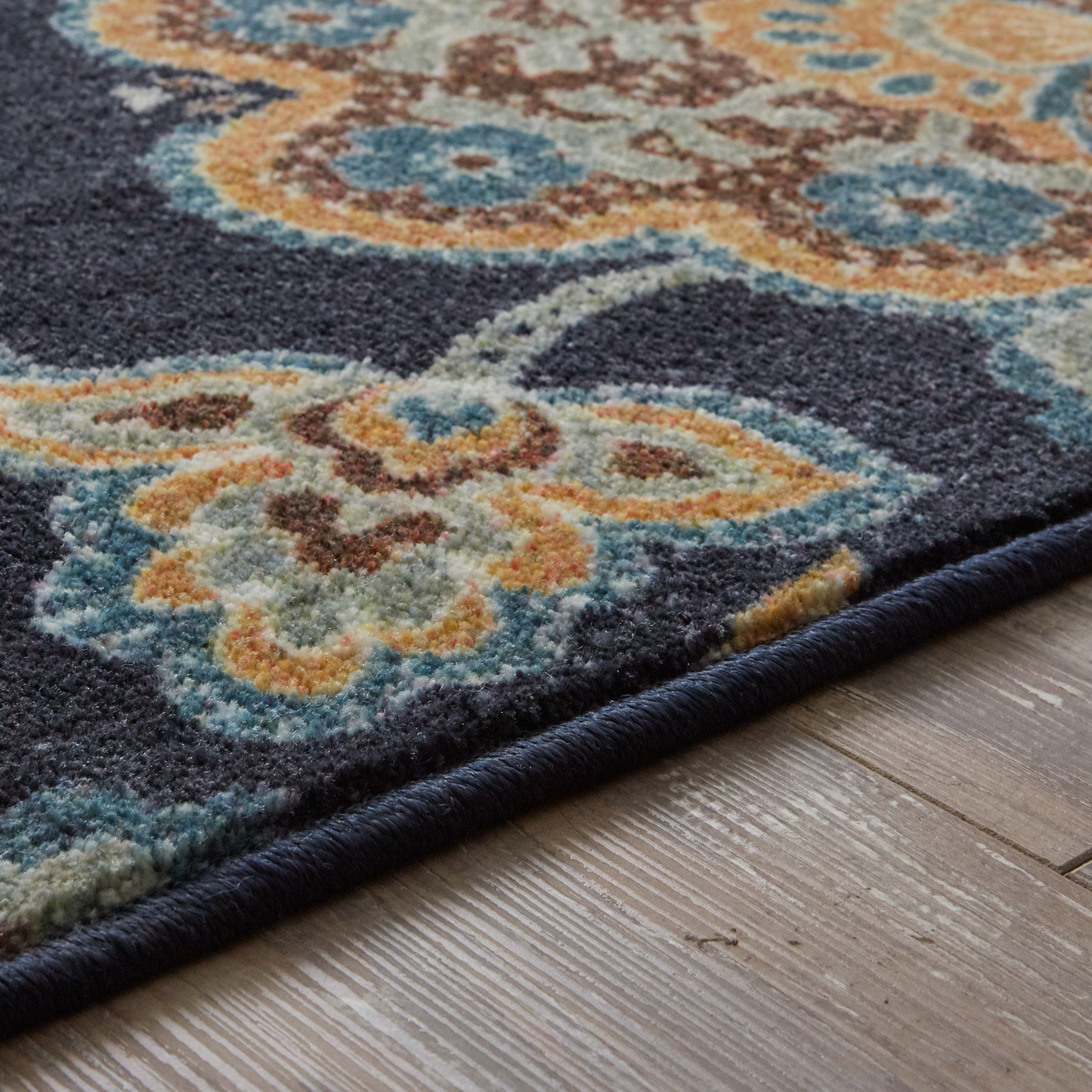 Navy Paisley Rug: 5x8 - 6x9 Rugs For Less