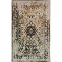 Copper Grove Sundarban Brown Traditional Distressed Area Rug - 5' x 8'