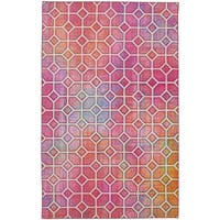 Mohawk Prismatic Garden Trellis Pink/ Multicolor Indoor Geometric Area Rug - 5' x 8'